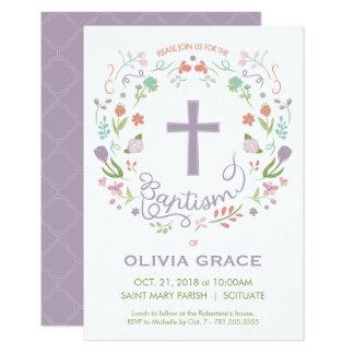 Baptême, invitation de baptême pour la fille -