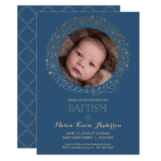 Baptême, invitation de photo de baptême,