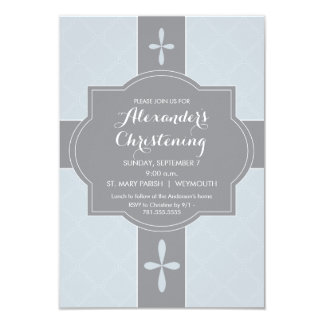 Baptême personnalisé de garçons, invitation de