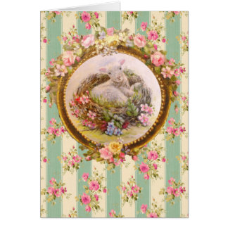 Baptism , Blessing ,Baby Lamb & bird nest - Carte De Vœux