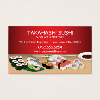 Bar à sushis cartes de visite
