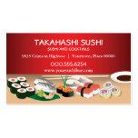 Bar à sushis cartes de visite professionnelles