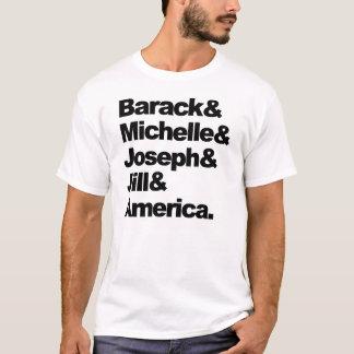 Barack et Michelle et Joseph et Jill et l'Amérique T-shirt