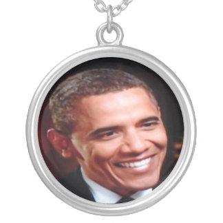 Barack Obama 3D inaugural, 2ème terme commémoratif Pendentif Rond