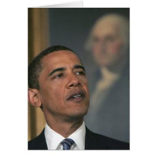 Barack Obama annoncent son intention pour nommer Cartes De Vœux