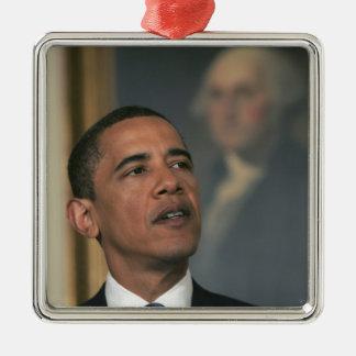Barack Obama annoncent son intention pour nommer Ornement Carré Argenté
