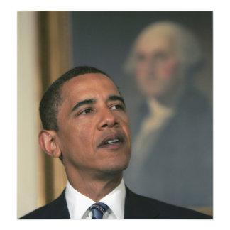 Barack Obama annoncent son intention pour nommer Photographie D'art
