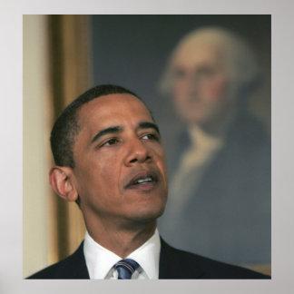 Barack Obama annoncent son intention pour nommer Affiche