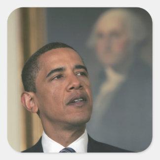 Barack Obama annoncent son intention pour nommer Sticker Carré