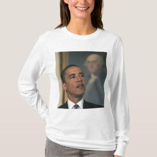 Barack Obama annoncent son intention pour nommer T-shirt
