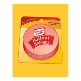 Barack Obama - Bologna de renflouement Carte Postale