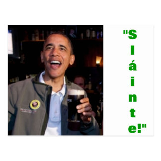 Barack Obama - carte postale irlandaise de pain