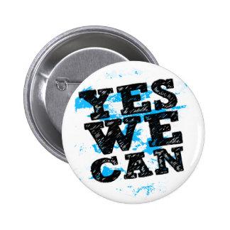 Barack Obama oui nous POUVONS des boutons Badge Rond 5 Cm