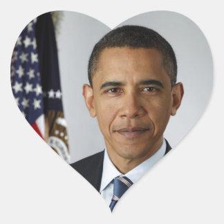 Barack Obama Sticker Cœur