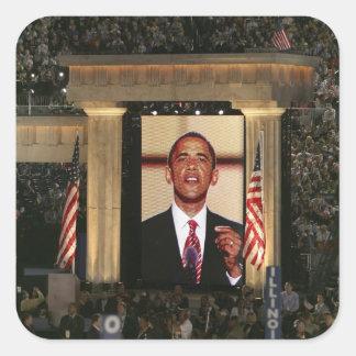 Barak Obama parle à la nuit dernière du Sticker Carré