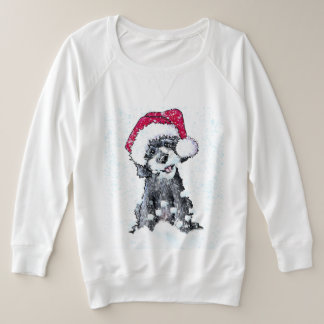 Barbe de neige de Père Noël de griffonnage de noir