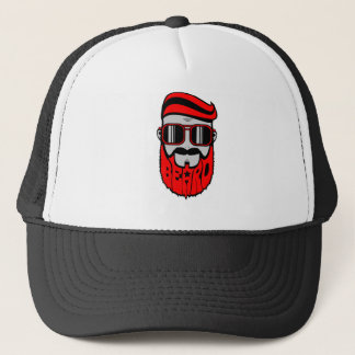 barbe rouge casquette