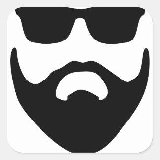 barbe sticker carré