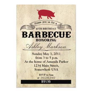 Barbecue d'anniversaire carton d'invitation  12,7 cm x 17,78 cm