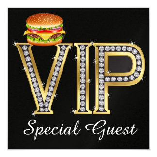 Barbecue d'invité spécial de VIP - SRF Carton D'invitation 13,33 Cm