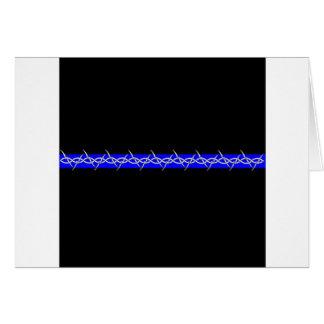 Barbelé Blue Line de corrections Carte De Vœux