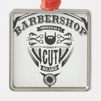 Barbershop originals vintage ornement carré argenté