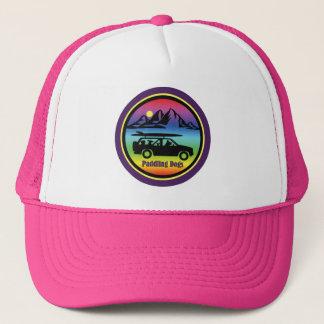 Barbotage du casquette rose de camionneur de
