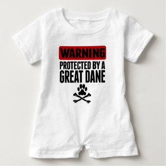 Barboteuse Avertissement protégé par great dane