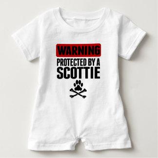 Barboteuse Avertissement protégé par un Scottie
