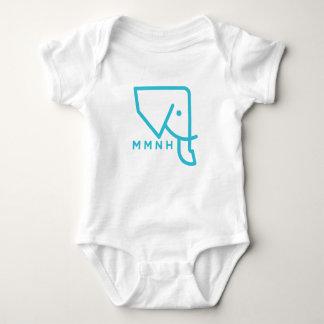 Barboteuse bleue de bébé d'éléphant de MMNH