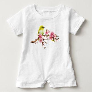 Barboteuse Branche jaune de fleurs de cerisier d'oiseau