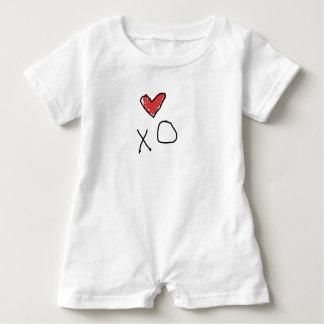 Barboteuse Chemise du coeur des enfants de combinaison