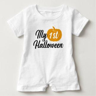 """Barboteuse Citrouille doux """"mon ęr Halloween """""""