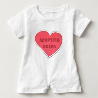 Barboteuse Conception de coeur de rose de roches d'adoption