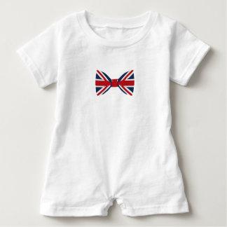 Barboteuse de bébé - cravate d'arc d'Union Jack