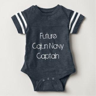 """Barboteuse de bébé de marine de """"futur capitaine"""""""