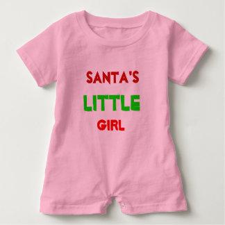 Barboteuse de la petite fille de Père Noël pour