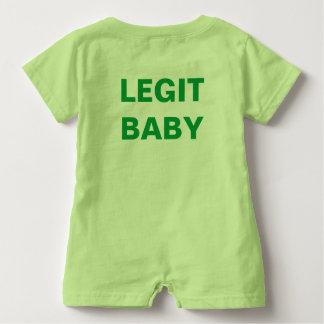 Barboteuse d'EnLedger de bébé de pièce de théâtre