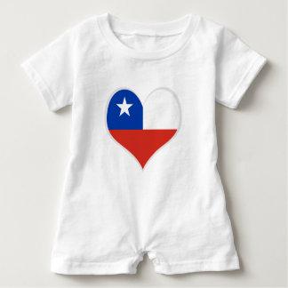 Barboteuse Drapeau de coeur du Chili