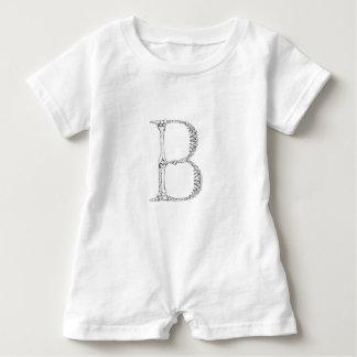 Barboteuse Initiale d'os de la lettre B