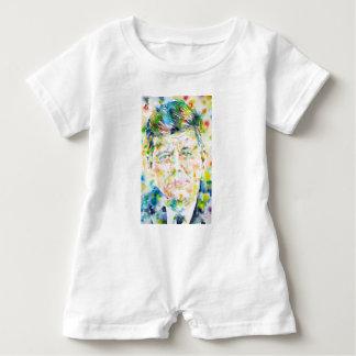 Barboteuse John Fitzgerald Kennedy - aquarelle portrait.3