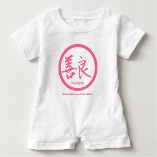 Barboteuse Kamon japonais rose • Kanji de qualité