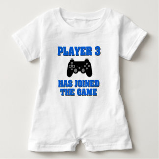 Barboteuse Le joueur 3 a joint la chemise drôle de bébé de