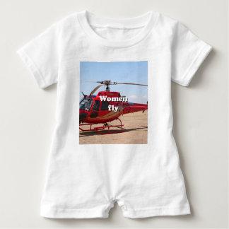 Barboteuse Les femmes volent : hélicoptère rouge
