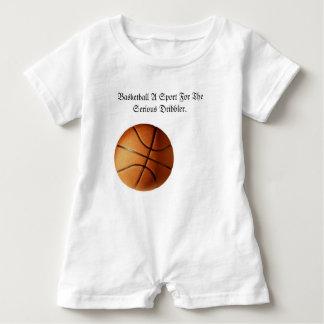 Barboteuse Logo sérieux de dribbleur de basket-ball orange,