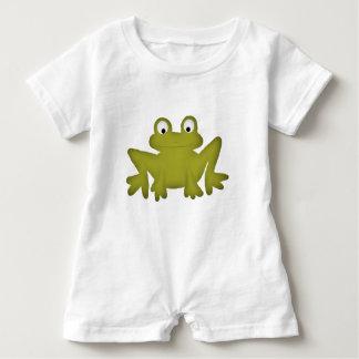 Barboteuse mignonne de bébé de grenouille