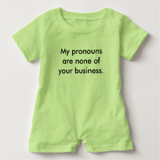 Barboteuse Mon équipement de bébé de pronoms