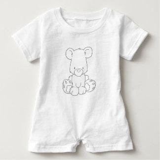 Barboteuse Ours de bébé pour colorize