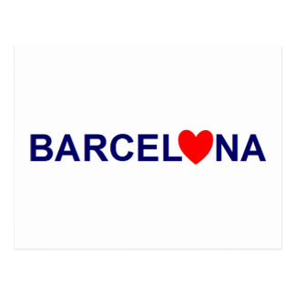 Barcelona love carte postale