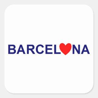 Barcelona love sticker carré
